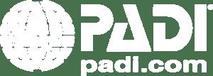 Logo PADI blanco
