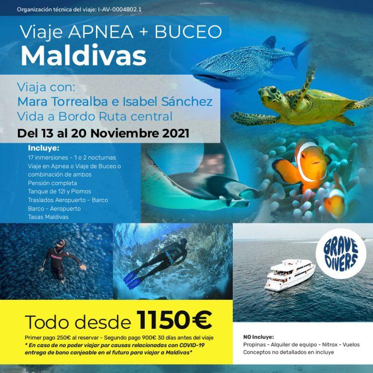 Viaje a Maldivas en Apnea