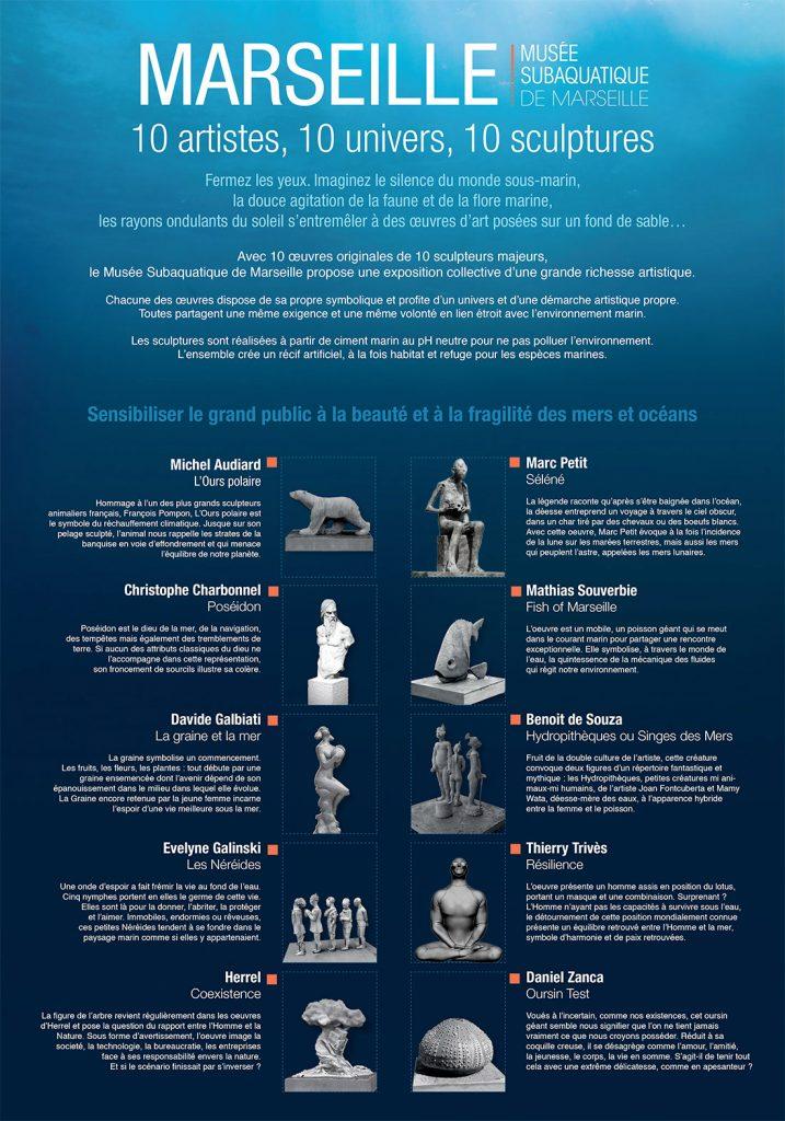 Las figuras del Museo Subacuático de Marsella