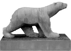 L' Ours Polaire de Michael Audiar, estatua perteneciente al Museo Subacuático de Marsella (© Wallis - Msm)