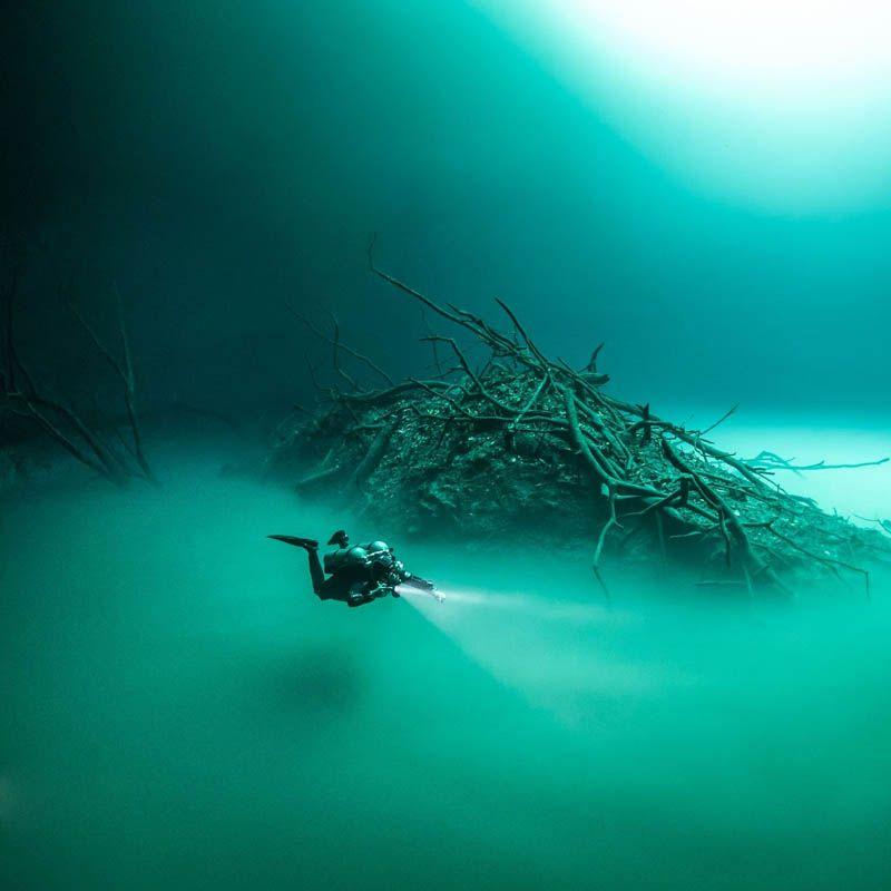 buceo en cenote angelita