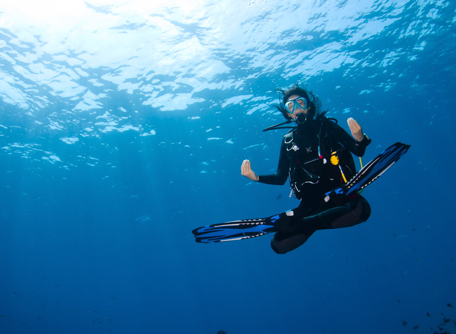 mejorar consumo de aire en el buceo con flotabilidad